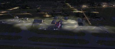 Screenshot of Williamson County Regional Airport at night.