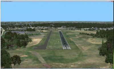 Screenshot of Wings Field Airport runway.
