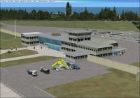 Screenshot showing the termal at East London Airport in FSX.