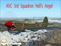 Screenshot of Curtiss P-40 Hell's Angels 3rd in flight.