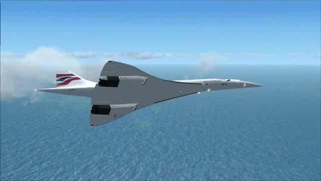 Video: fsx concorde landing in the dominican republic.