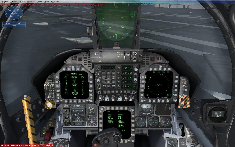 F 18 Cockpit Including a properly skinned