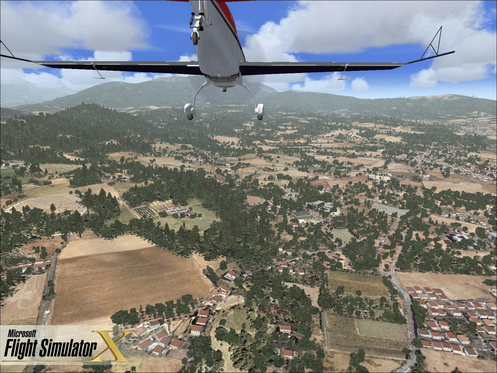 Скриншоты из игры Microsoft Flight Simulator X.