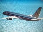 American 757 over water