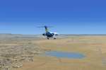 Allegiant MD-83 on final at Colorado Springs Municipal