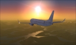 Blank 737 at Sunset