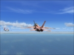 F18 Intercepting a Bombardier