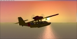Dornier Seastar of Canadian rescue forces over the carribean at sunrise