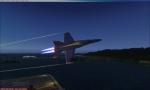 F18 super Hornet fly-by
