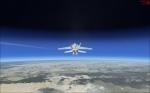 F-18 Hornet in 77800 ft