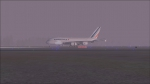 Air France A380 touches down