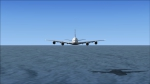 MSN A380 flying low over the Pacific