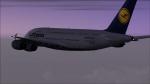 Lufthansa A380-841 soaring out of Frankfurt