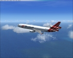Martinair MD-11 over Atlantic Ocean