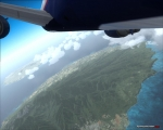 Boeing 767-300ER Turning Over Hawaii