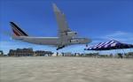 Airbus A340 landing in St Maarten