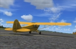 Piper Cub on taxiway