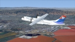 Flight 1 ATR72-500 over SF South Bay