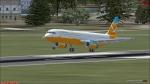 a321 Landing in Bremen