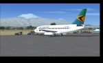 Air Tanzania Boeing 737 in Kilimanjaro