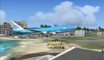 Landing in St Maarten
