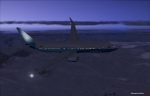 Boing 737 over Alaska