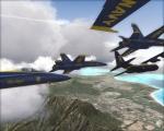 Training flight of Blue Angels over Hawaii 2010