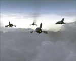 """Box"" formation of four MiG-21MF"