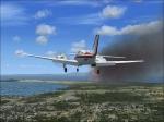 Engine fire over British Columbia