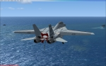 F-14 approaching USS Nimits in VFR