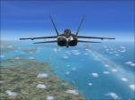 F-18 overtaking 737-800 27,000 feet west edge of Florida