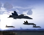 Formation of four Hornets
