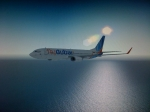 Flydubai B737 descending