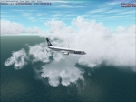 Boeing 737-800 LOT into clouds