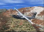NASA's Aero Commander over Mammoth