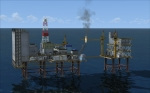 North Sea Oil Rig in FSX