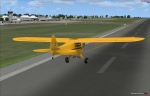 Piper Cub landing at Barbados