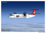 LAM Bombardier Q400 inbound Beira - FQBR