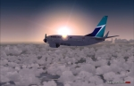 Westjet 737 at dawn