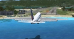 Airbus A380 approaching Princess Juliana International Airport