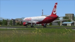 Air Berlin landing in Kerkira