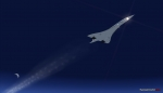 Concorde on approach to KJFK