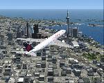 Air Canada A330 over Toronto