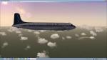 Sabena DC-6A over Congo-Brazzaville