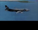 A320 over caribbean