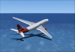 Virgin Atlantic A330 over the Atlantic