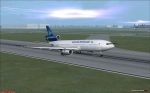 Jakarta storms landing
