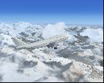 White Boeing 747 climing to FL3600