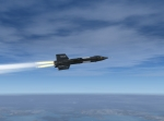 Igniting X-15 over Ionion sea