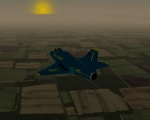 A4 Skyhawk Over Farmland